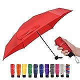 Paraguas De Viaje Mini Paraguas PequeñO Y Ligero Para Mochila/Bolso/Bolsillo, Se Adapta A Adultos Y NiñOs (Rojo)