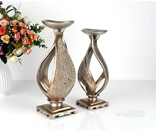Li-lamp Kreative Kerzenständer Candlelight Dinner Requisiten Romantische Retro Ornamente Kaffeetisch Dekorative Dekoration Wohnzimmer Weinschrank (Farbe : D)
