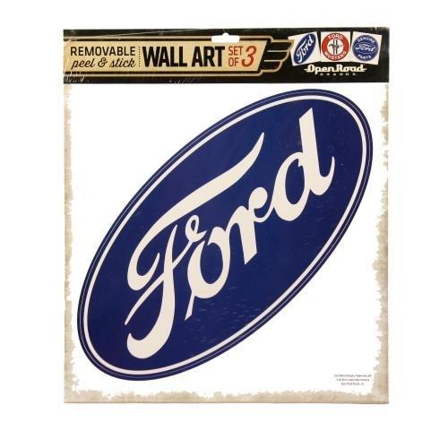 Open Road Brands Ford Logos Wandsticker aus Vinyl-3Pack