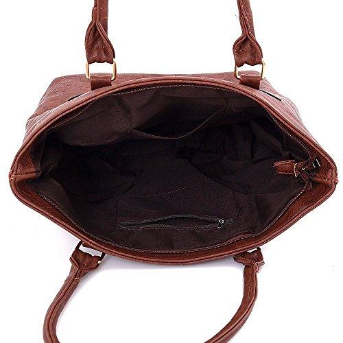 Kukubird Edith Tote Bag borsa Casual tutti i giorni con sacchetto raccoglipolvere Kukubird 1Black