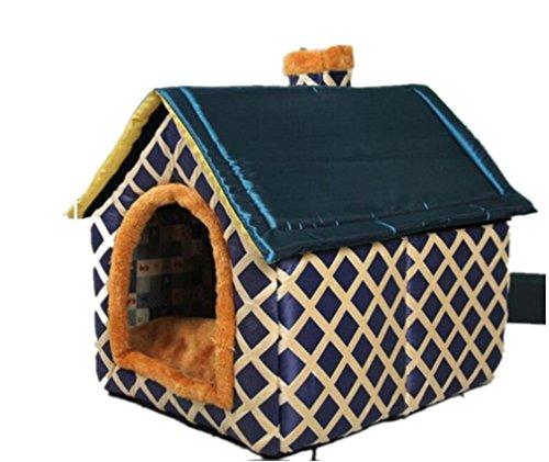 NWYJR Stile casa canile Pet House impermeabile Extra spessore caldo accogliente antivento Kennel gatto e cane casa , l
