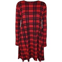 Kleid schwarz rot kariert