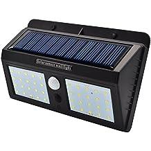 Foco solares luces del jardín - GreeSuit 40 led luz seguridad al aire libre impermeable brillante estupenda brillante para la yarda del patio de la cubierta calzada del jardín exterior de la pared (40 LED)