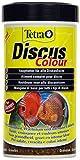 Tetra Discus Colour (speziell an die Ernährungsbedürfnisse von Diskusfischen angepasstes Hauptfutter mit natürlichen Farbverstärkern), 250 ml Dose