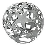HSM Dekorative Stern-Kugel Deko-Kugel Garten-Kugel Metall Hellgrau DM= 25 cm
