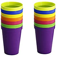 Dproptel Unbreakable Rainbow Party Cups 7oz/200ML Kids Mug Plastic Cups Reusuable Beakers Drinkware Set for BBQ Wedding…