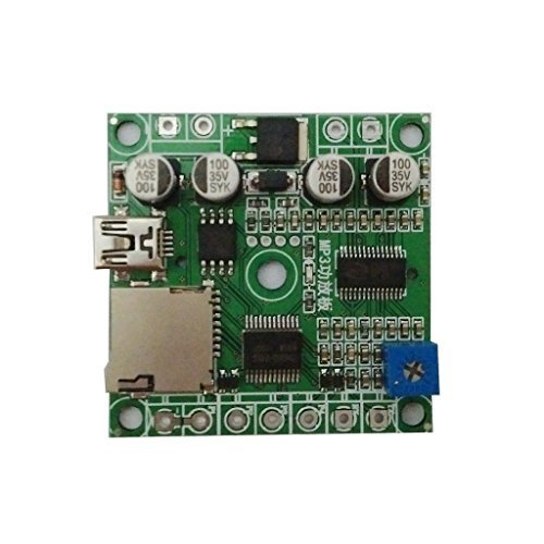 4 Buttons Triggered MP3 Player Board with 10W Amplifier and Solder Pads by  Electronics123 com, Inc