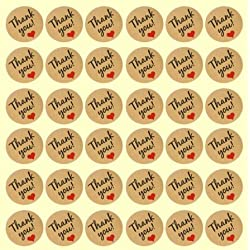 240 lindas etiquetas adhesivas con «Thank You»