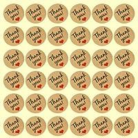 Funcoo – 240lindas etiquetas adhesivas con «Thank You» impreso para sello de sobres, pegatinas decorativas, pegatinas para casa, oficina, boda, 3.5x3.5cm(1)