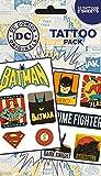 GB eye DC Comics Retro Temporary Tattoo Pack, Multi-Colour