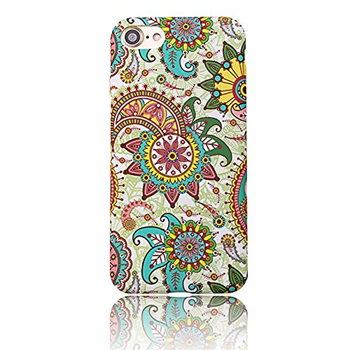 "iPhone 6s Handyhülle, Kreativ Mode Series CLTPY iPhone 6 [Ultra Hybrid] 3-Teilige Stylisch Extra Dünne Tough Plastic Schutz-etui mit Detachable Elektroplattiert metallrahme für 4.7"" Apple iPhone 6/6s  Bunte Blume 1"