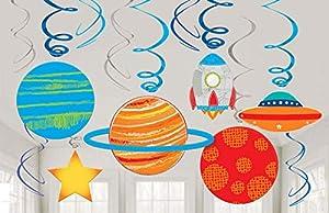 Amscan International Amscan 672278 - Espiral decorativa (12 unidades)