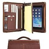 Cohokori Conférencier en cuir faite à la main à fermeture Éclair pour de iPad Pro...