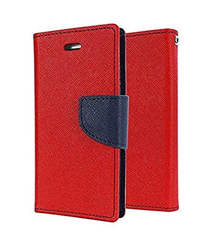 Casecraft Flip Case Wallet Style Cover For Vivo Y51L(Red)