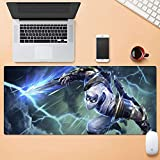Tappetino Mouse Gaming Mouse Tappetino Mat League of Legends LOL Zed Il Maestro delle Ombre Filo d'tastiera Impact Mat Mousepad Computer Mouse Pad (Color : 900mm*400mm, Size : 3mm)