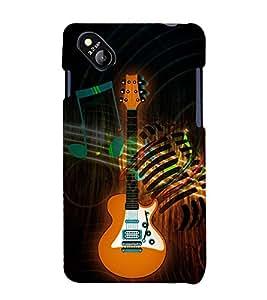 Classical Music Guitar 3D Hard Polycarbonate Designer Back Case Cover for Micromax Bolt D303