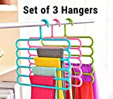 #9: TiedRibbons multipurpose Hanger For Shirts,Ties,Pants Space Saving hanger, Cupboard Organizer, Strong( 3 piece, Random Colors)
