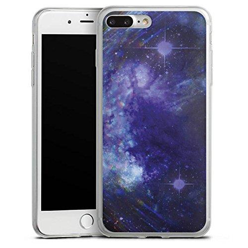 Apple iPhone 8 Slim Case Silikon Hülle Schutzhülle Universum Nacht Himmel Silikon Slim Case transparent