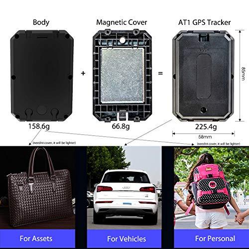 519hAGF6S1L - Localizador GPS Coche, Lncoon Portátil GPS Tracker Magnético Fuerte 6000mAh con GPS en Tiempo Real de Rastreo y Alarma Antirrobo para Coche Motocicleta Camiones Niños -Tarjeta SIM de Datos Incluida
