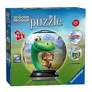 Arlo & Spot Disney The Good Dinosaur - Enfants 3D Puzzle Ball 72 pièces