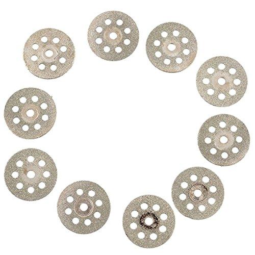 SODIAL(R)10PCS Mini disque de decoupe de diamant de 22mm a scie la feuille de moulin de lame