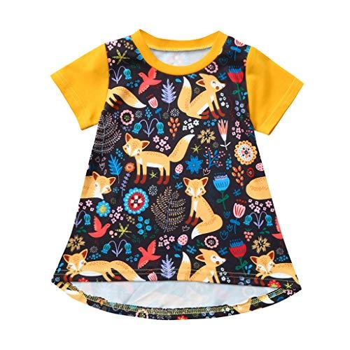 JERFER Blumen Kleiden Kleinkind Mädchen Karikatur Prinzessin Sommerkleid