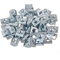 BQLZR plata carbono acero para ranura de extrusión de perfil de aluminio de la serie estándar europeo 20 Pack de 50