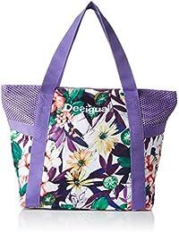 Desigual BOLS_L Shopping, Bolsa de Medio Lado para Mujer, Morado (3168 Purple Opulence), 13x34x45 cm (B x H x T)