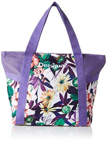 Desigual BOLS_L Shopping, Borse a Tracolla Donna, Viola (3168 Purple Opulence), 13x34x45 cm (B x H x T)