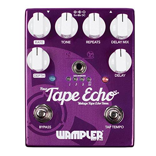 Wampler Falsch Tape Echo V2Delay Effektpedal für E-Gitarre