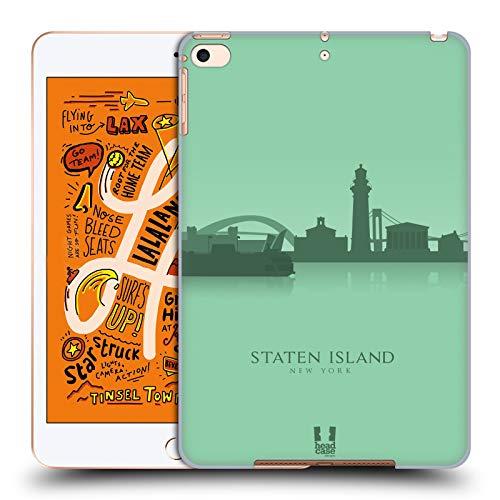 Head Case Designs Staten Island Landmarken Silhouettes 2 - Us Harte Rueckseiten Huelle kompatibel mit iPad Mini (2019)