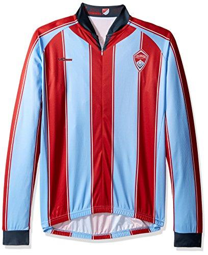 VOmax MLS Herren Original Striped Long Sleeve Jersey, Herren, blau, Medium