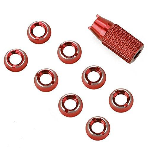 Metallschalter Mutter, Schraubenschlüssel Funkfernbedienung T8FG T14SG T18sz T16sz Schalter Festmutter Upgrade Teilesatz für JR(红色) - Installation Tool Stud