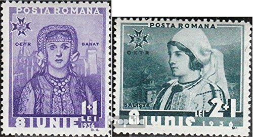 1936 König (Prophila Collection Rumänien 510-511 1936 Thronbesteigung König Karl II. (Briefmarken für Sammler))
