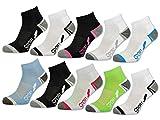 6 oder 12 Paar SPORT Sneaker Socken Damensocken verstärkte Frotteesohle - 36850/N - sockenkauf24 (39-42, 12 Paar | Farbmix)