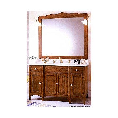 Estea mobili - mobile bagno arredo legno massello arte povera classico con specchiera - 111045504652 - come foto