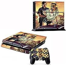 Nuoya005 De nouveaux skins PS4 décalcomanies en vinyle pour playstation 4 console / contrôleur GTA V Decal # 008 (Inclure une bande réfléchissante à vélo comme cadeau)