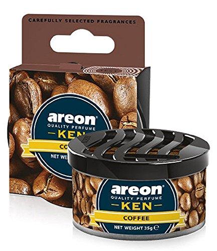 Areon Ken Lufterfrischer Dose Auto Kaffee Autoduft Duft Duftdose Wohnung Erfrischer 3D ( Coffee Pack...