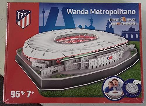 Kick Off 34007 - Puzzle da stadio Wanda Metropolitano 2019, multicolore