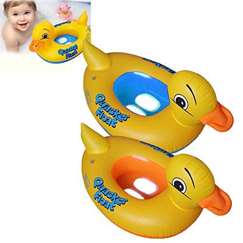 Baby aufblasbare gelbe Ente Schwimmen Ring Kreis Sitz Pool schwimmen Sommer Kind Boje Wasser Floß treiben lustiges Spielzeug Boot -