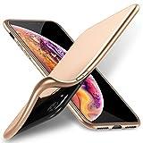 X-level iPhone XR Hülle, [Guardian Serie] Ultradünn Schlank TPU Case Weiche Silikon Schutzhülle, Handyhülle für iPhone XR Echtes Cover 6,1 Zoll 360° Voller Deckel, Einfacher Stil - Gold