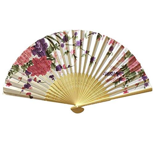 Chinesische Dame Mädchens Retro Falten Fans Cosplay Handheld Fan Beste Geschenk # 02