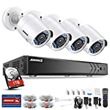 ANNKE Kit de Seguridad 3MP H.264+ DVR 8+2 Canal y 4 Cámaras CCTV de Luz estrellada videovigilancia (8CH 5-en-1 DVR Onvif cámara 2MP starlight IP66 Int