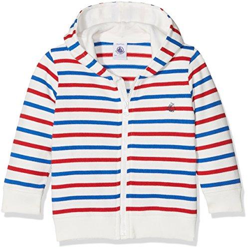 Petit Bateau Petit Bateau Baby-Jungen Kapuzenpullover Sweat Shirt A Capuche 27611 Mehrfarbig (Marshmallow/Multico 14) 68 (Herstellergröße: 6m/67cm)