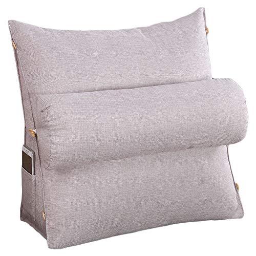 VERCART cojín de lectura almohada con almohada cilíndrica (confortable bodega cuello triangular...
