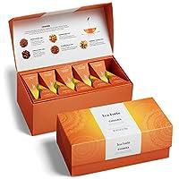 Tea Forté CHAKRA Presentation Box Organic Tea Sampler, Assorted Variety Tea Box, 20 Handcrafted Pyramid Tea Infusers - Chai Black Tea, Chai Herbal Tea