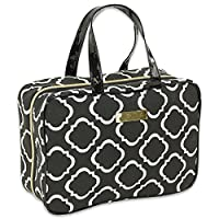 JODA Ladies Black & White Folding Travel Cosmetic Toiletry Wash Bag with Handles for Women