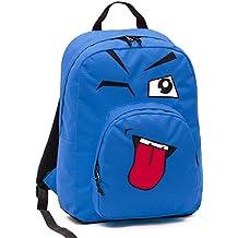 887f9a7d64 ZAINO INVICTA - OLLIE PACK FACE - Blue linguaccia - tasca porta pc padded -  scuola