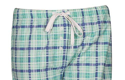 Ninety-One Damen Schlafanzughose Mehrfarbig Mehrfarbig Mehrfarbig - Green Plaid