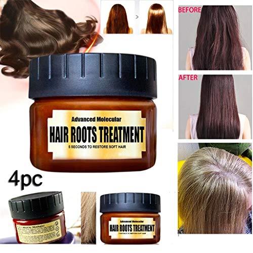 Maschera per Capelli Disintossicante per Capelli Advanced Molecular Hair Roots Treatment Recovery, Essenza Naturale per la cura dell'olio di argan - condizionatore profondo adatto (4PCS)